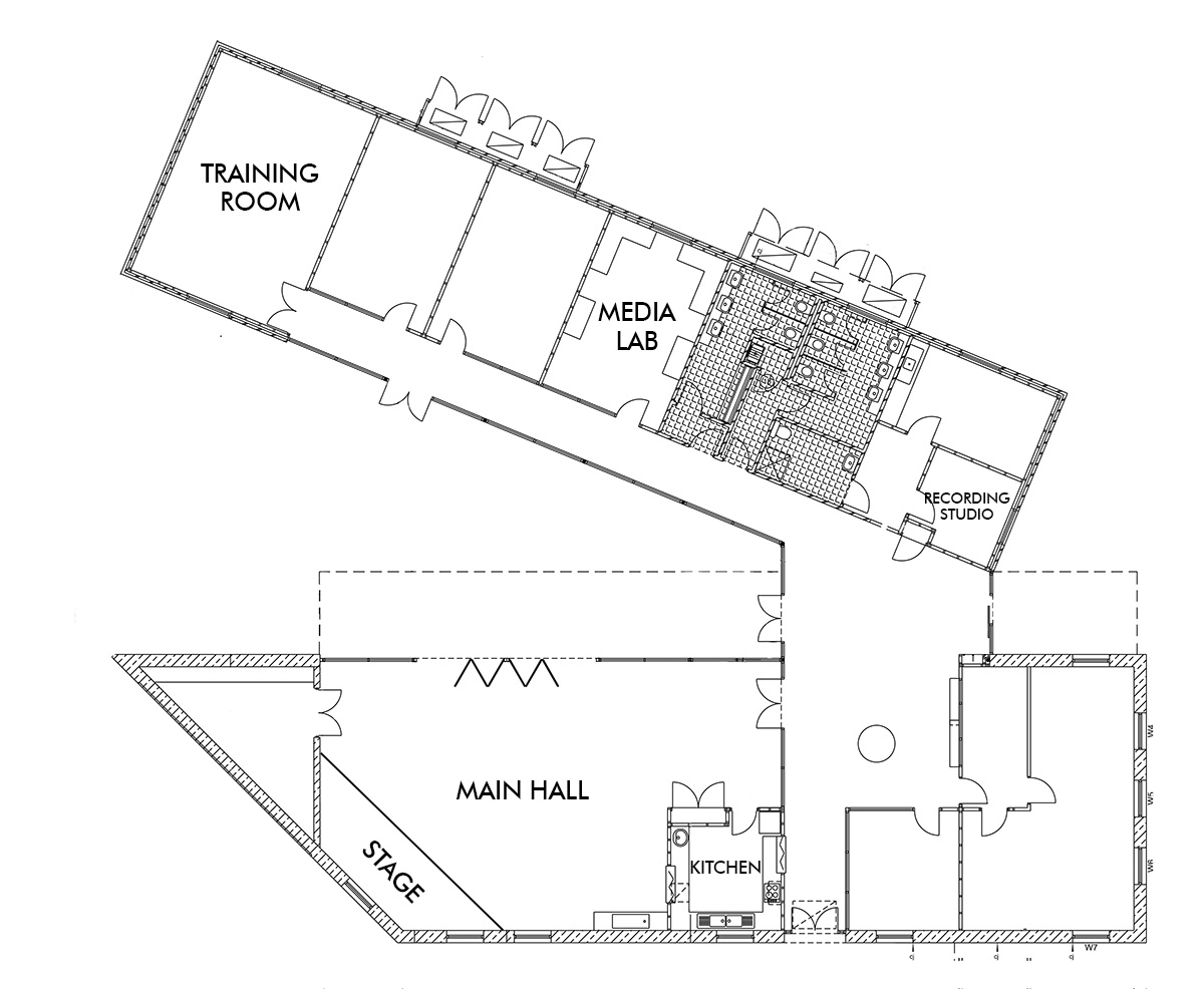 Base 10 Youth Centre floorplan