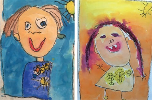 Frieda Corpe Kindergarten - self portraits