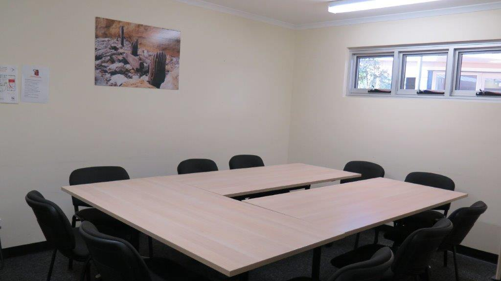 Hackham West Community Centre meeting room with desks