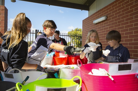Moana Primary School waste audit